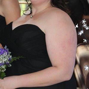 Size 24 Black Strapless Bridesmaids Dress